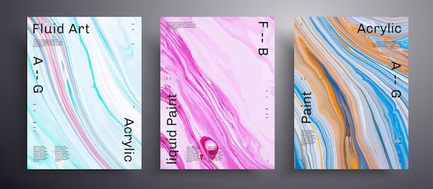 Sammlung von abstrakten acrylplakaten