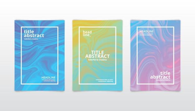 Sammlung von abstrakten deckblättern in verschiedenen farben