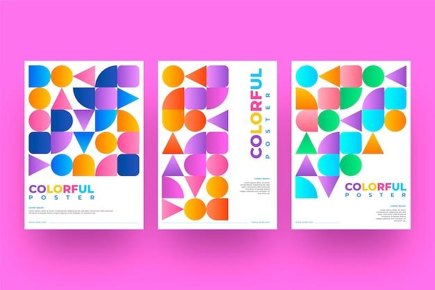Sammlung von abstrakten deckblättern mit verschiedenen formen