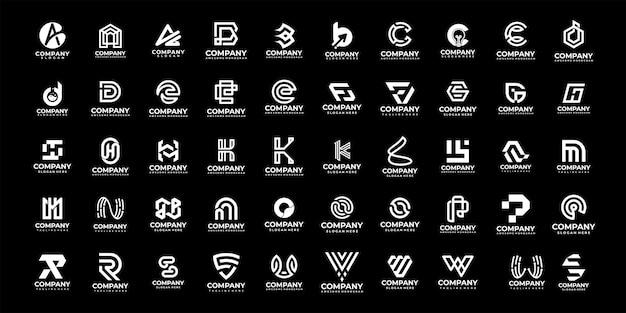 Sammlung von abstrakten initialen von a bis z, monogramm-logo-design
