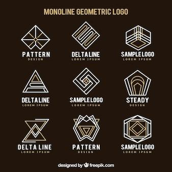 Sammlung von abstrakten linearen logo