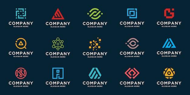 Sammlung von abstrakten logo-designs. flache minimalistische moderne