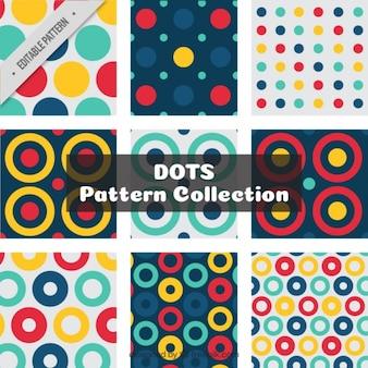 Sammlung von abstrakten polka punktmuster
