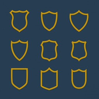Sammlung von abzeichen symbol in linienstil