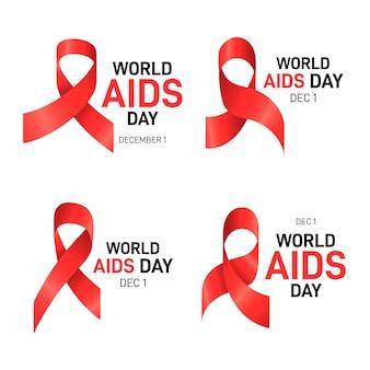 Sammlung von aids day etiketten