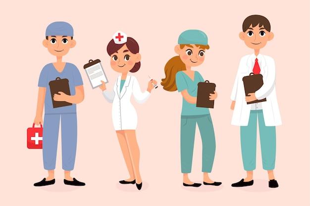 Sammlung von angehörigen der gesundheitsberufe
