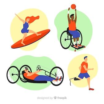 Sammlung von athleten mit behinderungen