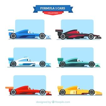 Sammlung von autos der formel 1