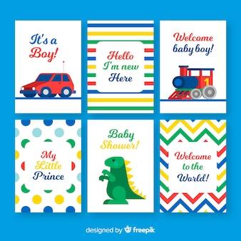 Sammlung von baby-dusche-karten