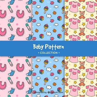 Sammlung von baby-muster