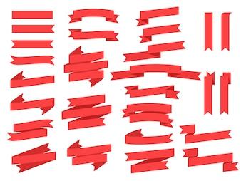 Sammlung von Bändern und Banner Vektor