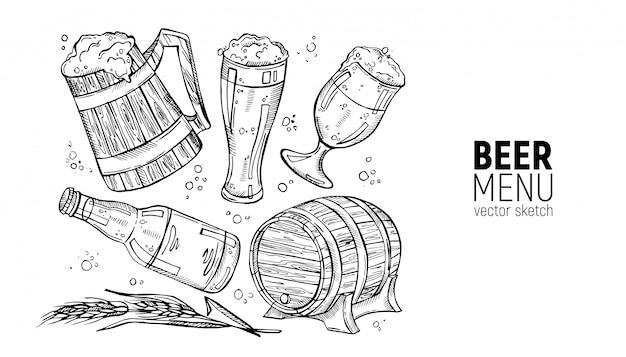 Sammlung von bier