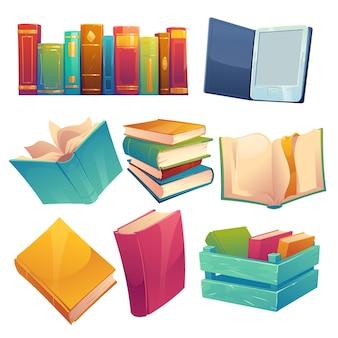 Sammlung von bildbänden in verschiedenen formen