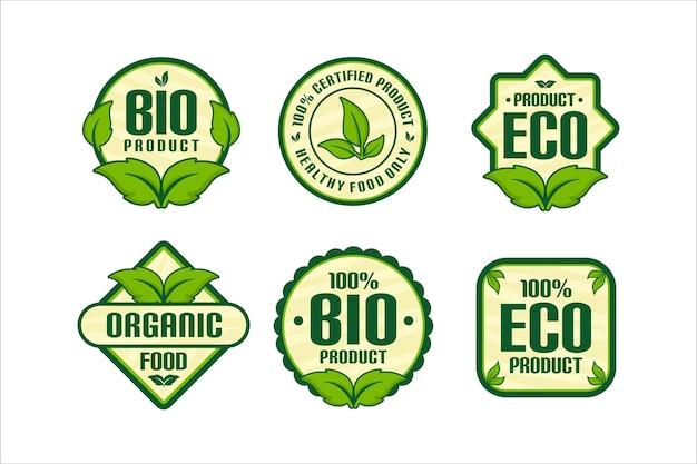 Sammlung von bio-lebensmitteln