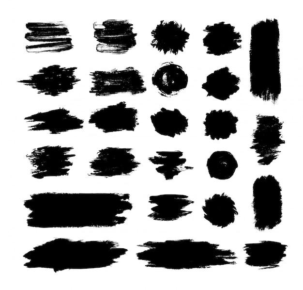 Sammlung von blots und texturen