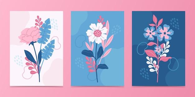 Sammlung von blumenkarten