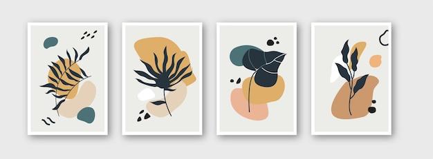 Sammlung von blumenvorlagen für branding-abdeckungen design-layout-bundle-poster