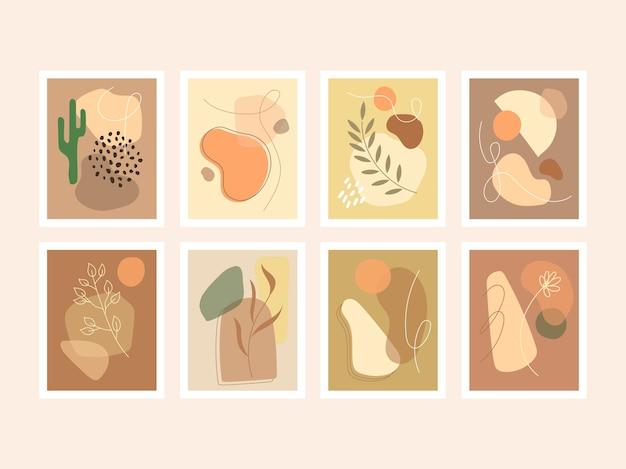 Sammlung von boho-wandkunst-stil-cover-hintergrund