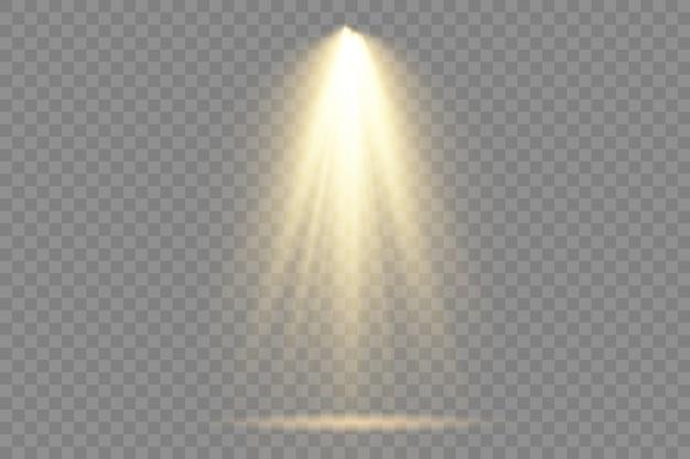 Sammlung von bühnenlichtscheinwerfern, projektorlichteffekten.