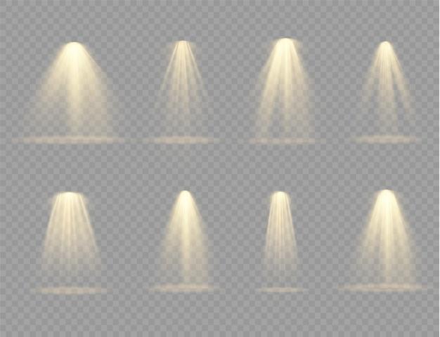 Sammlung von bühnenlichtscheinwerfern, szene, bühnenbeleuchtung große sammlung.