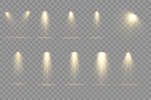 Sammlung von bühnenlichtscheinwerfern