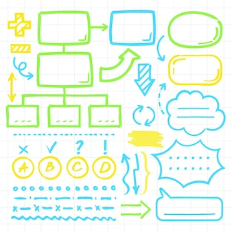 Sammlung von bunten infografik-elementen
