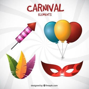 Sammlung von bunten karneval elemente