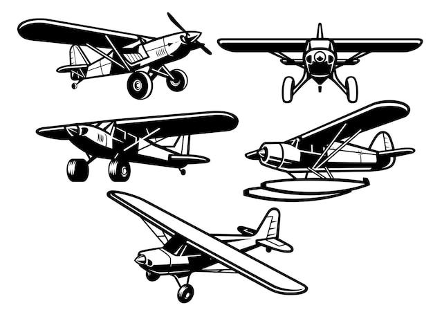 Sammlung von buschflugzeugen