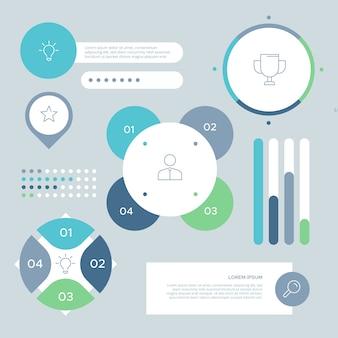 Sammlung von business-infografik-elementen