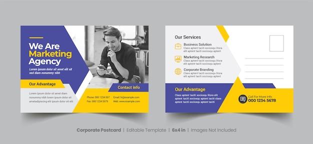 Sammlung von business postcard template
