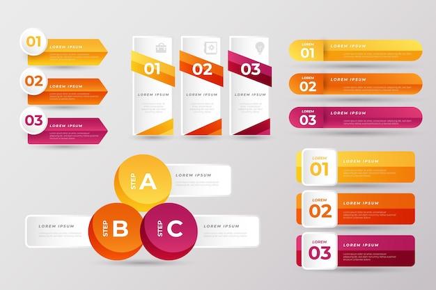 Sammlung von business-präsentationselementen