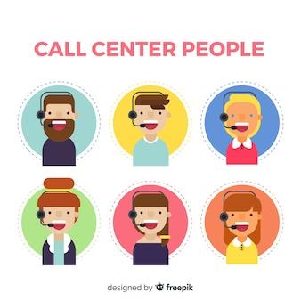 Sammlung von call-center-avataren