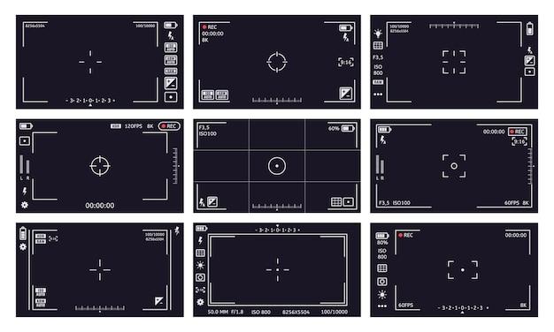 Sammlung von camcorder sucher-oberfläche