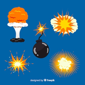 Sammlung von cartoon-explosionseffekten