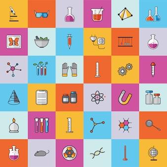 Sammlung von chemie-vektoren