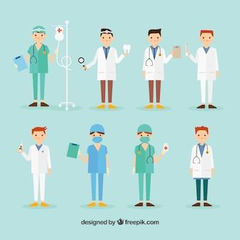Sammlung von chirurgen und arzt