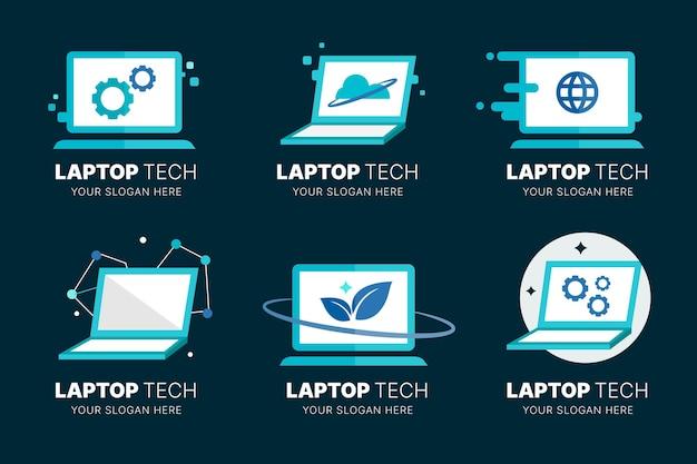 Sammlung von computerlogo-vorlagen