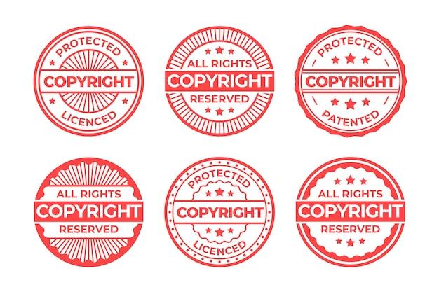 Sammlung von copyright-briefmarken