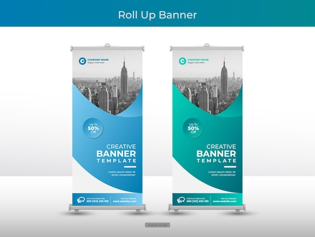 Sammlung von corporate roll-up-banner