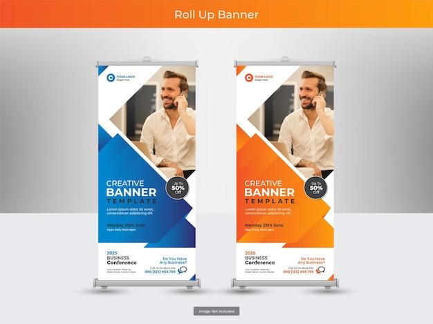 Sammlung von corporate roll-up-banner