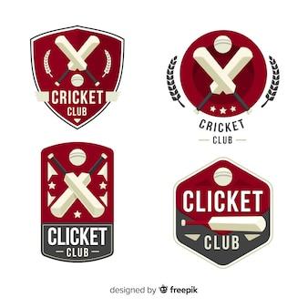 Sammlung von cricket-etiketten