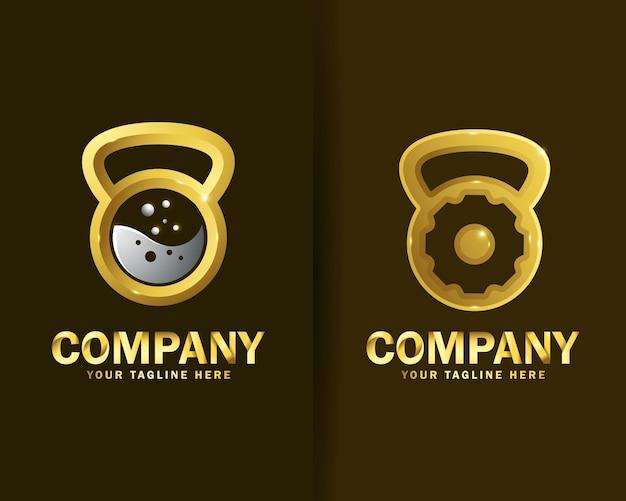 Sammlung von crossfit logo design vorlagen