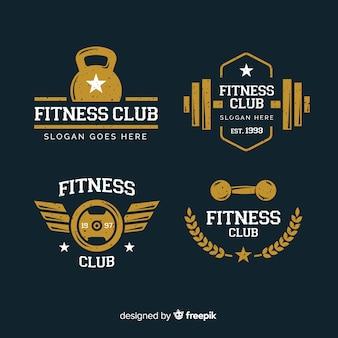 Sammlung von crossfit logo flachen stil