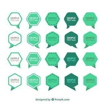 Sammlung von dialog ballon aufkleber