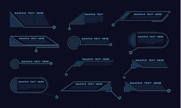 Sammlung von digitalen callout-titeln