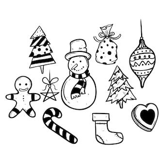 Sammlung von doodle christmas icons