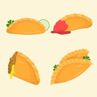 Sammlung von empanadas