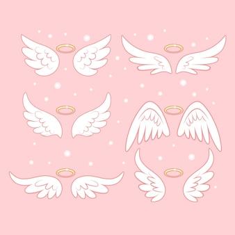 Sammlung von engelsflügeln