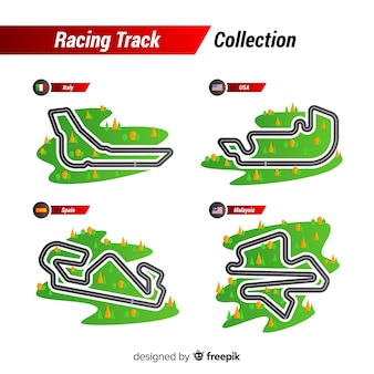 Sammlung von f1 rennstrecken