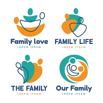 Sammlung von familienlogo-vorlagen